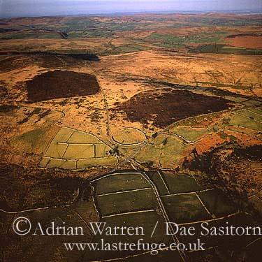 Dunnabridge Pound, Originally a Bronze Age pound which was later used as a drift-pound, Dartmoor, Devon, England