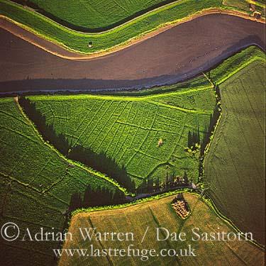 Chilton Trinity, Deserted Medieval village by River Parrett, Somerset, England