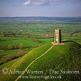 Glastonbury Tor and St Michael's Tower, glastonburuy, Somerset, England