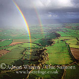 Rainbow over Somerset Levels, Somerset, England