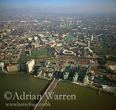Vauxhall Bridge and MI6 Building, London, England