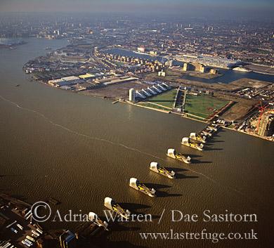 River Thames Barrier, London, England