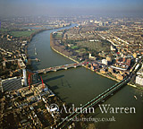 Putney Bridge and River Thames, London, England