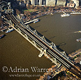Charing Cross Station and the River Thames, London, England
