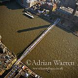 Millennium Bridge and the River Thames, London, England