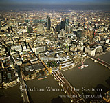 Canon Street, the River Thames and city of London, London, England