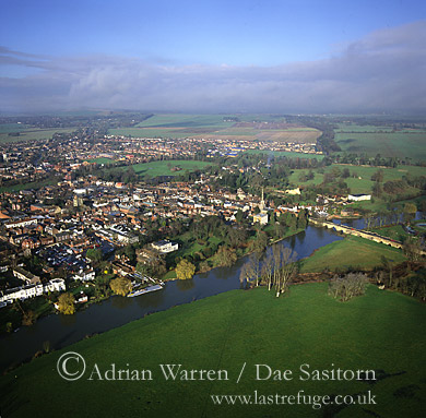 Wallingford and River Thames, Oxfordshire, England