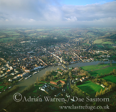 Henley-on-Thames and River Thames, Oxfordshire, England
