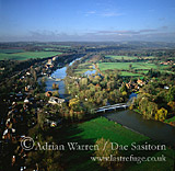 Pangbourne and River Thames, Berkshire, England