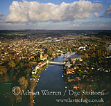 Marlow and River Thames, Buckinghamshire, England