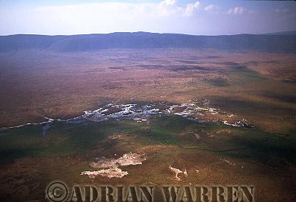 Aerials (aerial image) of Africa : NGORONGORO CRATER, Tanzania