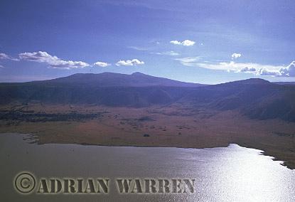Aerials (aerial image) of Africa : Lake Magadi, NGORONGORO CRATER, Tanzania