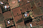 Aerials (aerial image) of Africa : HOUSES near NGONG HILLS, Northern Kenya