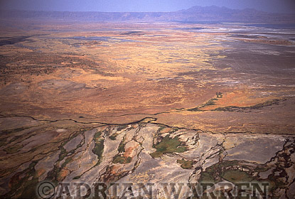 Aerials (aerial image) of Africa : Lake Natron, African Rift valley / Tanzania, 1990