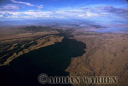 Aerials (aerial image) of Africa : RIFT VALLEY, AFRICA, at Mount Lengai, Tanzania