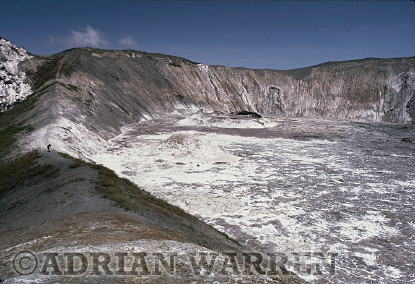 Aerials (aerial image) of Africa : Summit of Mount Lengai, African Rift Valley / Tanzania, 1987