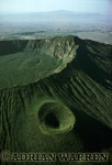 Aerials (aerial image) of Africa : MOUNT LONGONOT, African Rift Valley, Kenya, 1988