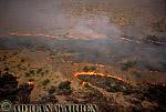 Aerials (aerial image) of Africa : Bush Fire, Etosha National Park, Namibia