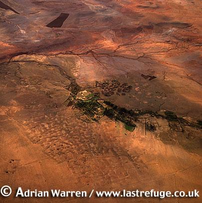 Aerials (Aerial Image) Of Africa: Morocco: Sahara Desert Near Dar Qayd Zehzahi