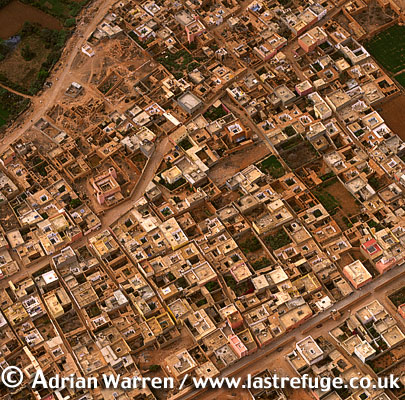 Aerials (Aerial Image) Of Africa: Morocco: Village And Cultivation Near Foum Agoutir, East Of Tarfaya