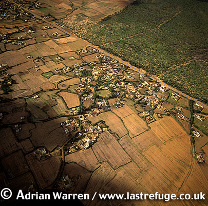 Aerials (Aerial Image) Of Africa: Morocco, Village And Cultivation East Of Rabat
