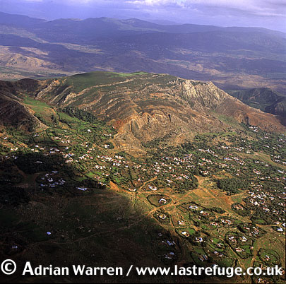 Aerials (Aerial Image) Of Africa: Morocco, Village And Atlas Mountains Near Tetouan
