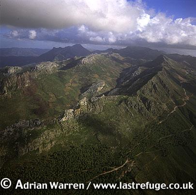 Aerials (Aerial Image) Of Africa: Morocco: Atlas Mountains Near Tetouan