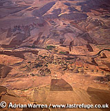 Aerials (Aerial Image) Of Africa: Morocco: Village In Sahara Desert North Of Agadir