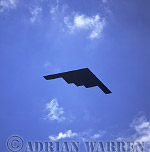 Military Airshow: B-2A Spirit (Stealth Bomber, 325th Bombardment Squadron, United Stated Air Force), A fly past at The Royal International Air Tattoo 2002, Fairford, Gloucestershire, England, UK
