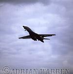 Military Airshow: B-1B Lancer Bomber (USA Air Force), The Royal International Air Tattoo 2002, Fairford, Gloucestershire, England, UK