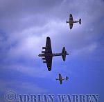 Military Airshow: Avro Lancaster B1, Supermarine Spitfire & Hawker Hurricane IIC - Battle of Britain Memorial Flight, The Royal International Air Tattoo 2002, Fairford, Gloucestershire, England, UK