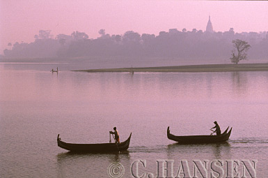 Fishing Boats, Ayeyawady River, Mandalay, Myanmar (formerly Burma)