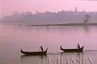 Fishing Boats, Ayeyawady River, Mandalay, Myanmar (formerly Burma)