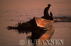 Boat at Sunset, Inle Lake, Myanmar (formerly Burma)