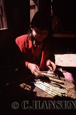 Cigar factory, INle Lake, Nyaungshwe, Myanmar (formerly Burma)