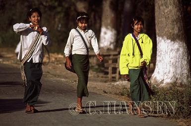 School Children, Inle Lake, Nyaungshwe, Myanmar (formerly Burma)