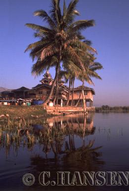 Houses on Inle Lake, Myanmar (formerly Burma)