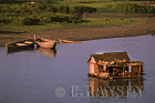 House Boat on Ayeyawady River, Mandalay, Myanmar (formerly Burma)