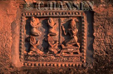 Bas-reliefs, Mingalazedi, Bagan, Myanmar (formerly Burma)