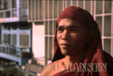 Buddhist Monk, Yagon (Rangoon), Myanmar (formerly Burma)