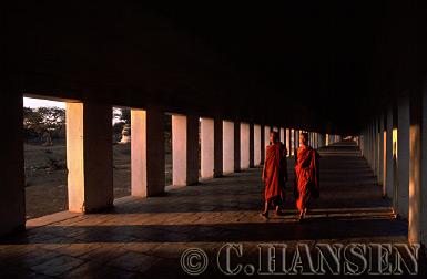 Buddhist Monks, Kyanzittha Unin, Bagan, Myanmar (formerly Burma)