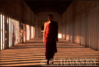 Buddhist Monk, Kyanzittha Unin, Bagan, Myanmar (formerly Burma)