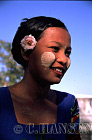 Burmese Lady (Way Way Mar) with Thanaka on face, Myanmar (formerly Burma)
