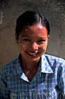 Burmese Lady with Thanaka on face, Irrawady River, Mingin, Myanmar (formerly Burma)
