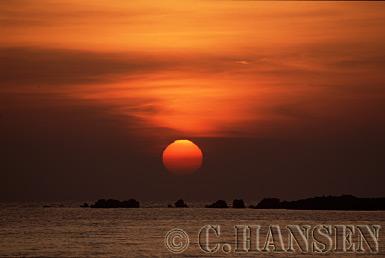 Sunset, Nagpali Beach, Myanmar (formerly Burma)