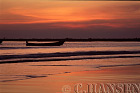 Sunset over Fishing Boats, Nagpali Beach, Myanmar (formerly Burma)