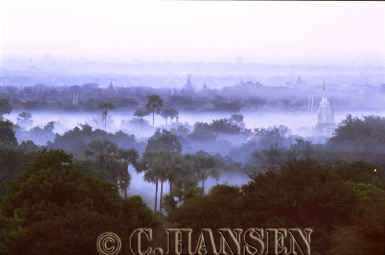 Mist over Bagan, Myanmar (formerly Burma)