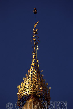 Spire of Shwesandaw Paya, Bagan, Myanmar (formerly Burma)