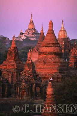 Temples, Ananda Pahto, Bagan, Myanmar (formerly Burma)