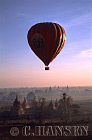 Balloon over Temples of Bagan, Myanmar (formerly Burma)